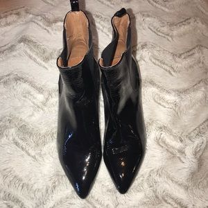 Jeffrey Campbell Patent Leather Booties